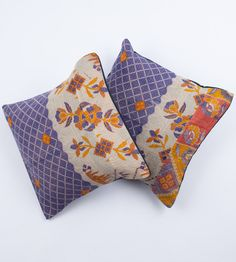 2 Vintage Quilt Pillows in 16x16 - 134. $45.00, via Etsy.