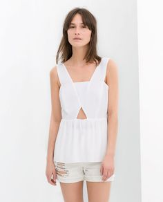 White cut-out top.