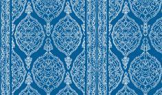Harem Print  White on Blue