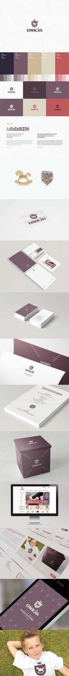 Onkja by Motyf , via Behance // #design #brand #love #colors #typo