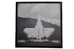 "LDS Temple Plaque.  A DIY craft featuring the Timpanogos Temple.  Measures 12""x12"" square.  Other templs also available."