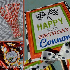 Monster Truck Birthday Party Custom Birthday by PartyOnPurposeShop
