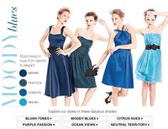 these are david's bridal shades of blue...