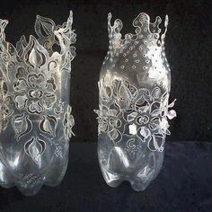 Bottle cut work. An amazing idea... I have to try it!