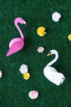 Cute alert!! DIY Swan + Flamingo Easter Eggs