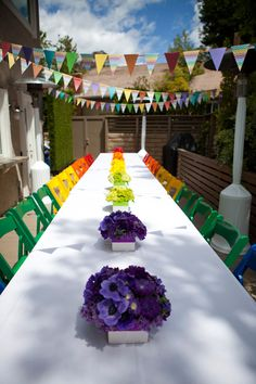 Bright Birthday Party in a Rainbow of Color