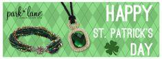 Happy Saint Patrick's Day! Go green with Park Lane Jewelry! #parklanejewelry #stpatricksday