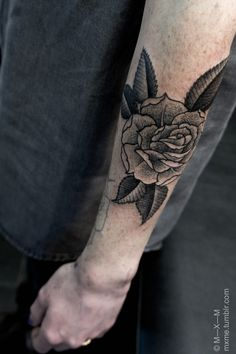 rose #forearm #tattoos
