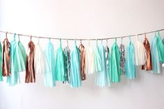 turquoise + copper + mint + white--perfect colors for Glitter Guide!