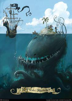 Ye Pirate Muncher by Jonny Duddle | 2D | CGSociety