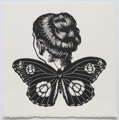 Great Eggfly Winged Woman by Deborah Klein
