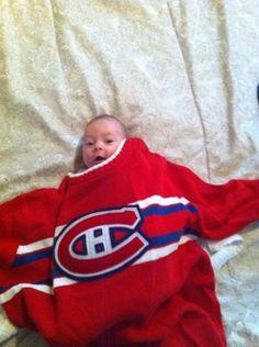 Veuillez accueillir un nouveau membre de la famille des Canadiens... Mathéo! / Please welcome a new fan to the #Habs family... Mathéo! (Soumis par / Submitted by John Haddad - Facebook)