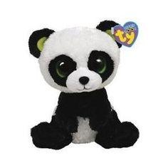 "Ty Beanie Boos 6"" Bamboo Panda Plush Stuffed Animal Toy"