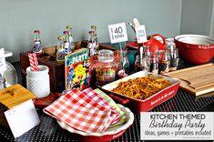 40 Bites! Kitchen Themed Birthday Party