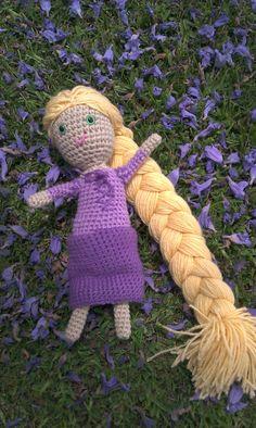 little crocheted rapunzel doll