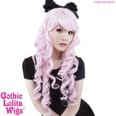 Gothic Lolita Wigs Store Spiraluxe™ Collection - Pinkie – Dolluxe® Spiraluxe™ Collection - Pinkie (Powder Pink Mix)  This redesign of our popular Spiral Collection is an elegant cut with an overabundance of cuteness twirled into the stunning style. This luxurious line contains a mix of at least two fiber shades on each colorway for a more natural look. #gothiclolitawigs #GLW #IAMDOLLUXE #wig #coolhair #hairfashion #style #hairstyle #beautiful #pretty #pink