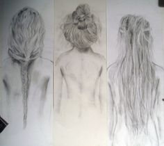 drawing hair is so hard, i love these drawings