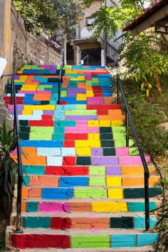 Rainbow Steps  I'd love these leading up to my new studio....