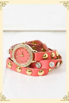 favorit color, fashion, accessori, wrap watch, leather watch