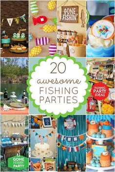 Fishing party ideas #party #birthday #partyideas #birthdayparty #fishing