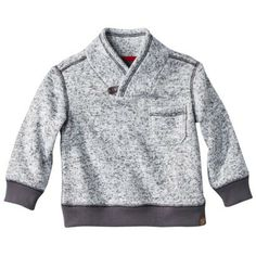 He'll be warm and stylish in this heather sweatshirt.