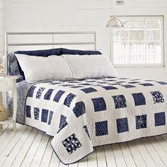 squar, endless summer, floor, blue quilt, batik quilts, black white, white bedrooms, patchwork quilting, bright colors