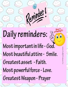 Daily reminders...<3  Cute for my daughters room!!