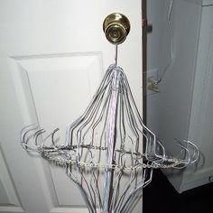 "The ""hanger"" hanger that I made today.  Hang all sorts of things from the ""hooks"" in your home or your flea market booth."