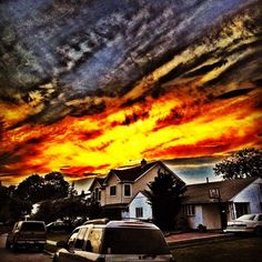 Fire in the sky. #skysnappers #skyporn #sunset   (Taken with instagram)