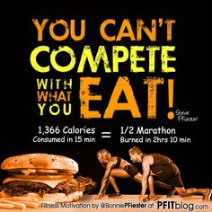 You can't out train a bad diet! #healthy #eating