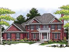 New American House Plan with 3850 Square Feet and 3 Bedrooms(s) from Dream Home Source | House Plan Code DHSW18259