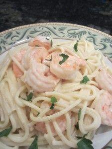 Creamy pasta with shrimp  Litsa B recipes!