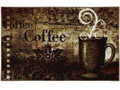 Baroque Coffee Kitchen Rug