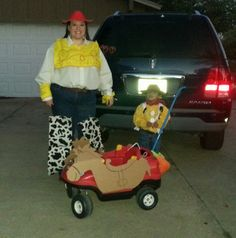 Homemade woody,  jesse and bullseye costums!