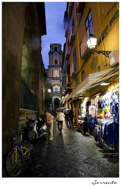Little street off Corso Italia in Sorrento - Italy