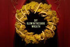 diy glow in the dark wreath via hello! lucky