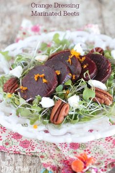 I must try this!  Orange Dressing Marinated Beets