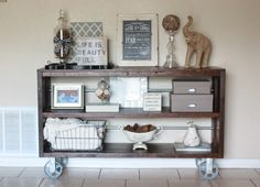 DIY Knockoff Restoration Hardware Wood & Steel Console Table | Build It Craft It Love It