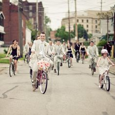 The wedding party that rides together...
