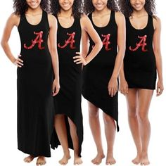Alabama Crimson Tide Ladies Customizable Maxi Dress – Black