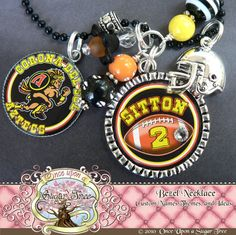 Love this football mom necklace!
