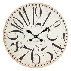 Weathered wall clock with oversized numerals.Product: Wall clockConstruction Material: WoodColor: Blac...