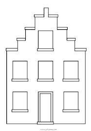 zeefdruk idee sjabloon huis
