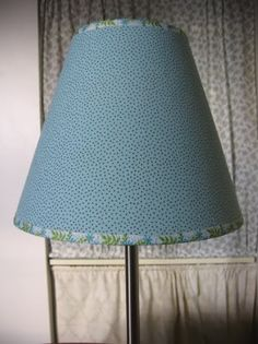 How to re-cover lamp shade