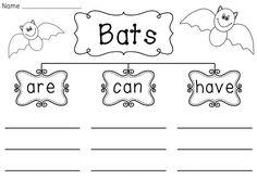 Bats Writing Organizer