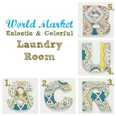laundry room decor with @Cost Plus World Market #worldmarketsweeps