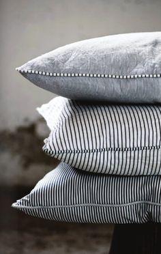 stripe pillows . . .