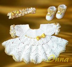 White Pineapple Dress free crochet graph pattern
