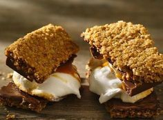 Bite into a caramel-chocolate square as it melts, and you're in for a flavor explosion in a super gooey s'more.