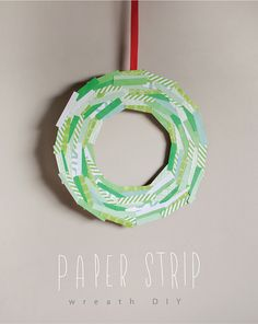 MerMagPaperStripWreath01 by mer mag, via Flickr